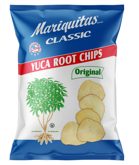 Mariquitas Yuca Root Chips packaging front side