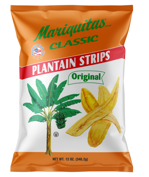 Mariquitas Plantain Strips packaging front side