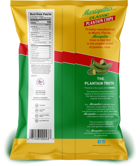 Mariquitas Lime packaging back side