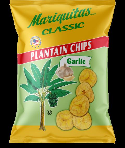 Mariquitas Garlic packaging front side
